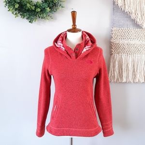 North Face | Crescent Sunset Hoodie Fleece - Red
